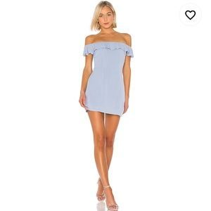 Lindsey Mini Dress in Dusty Blue